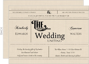 Western Love Wedding Invitation