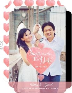 Whimsical Love Save The Date Announcement