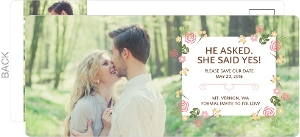 Modern Florals Save The Date Postcard