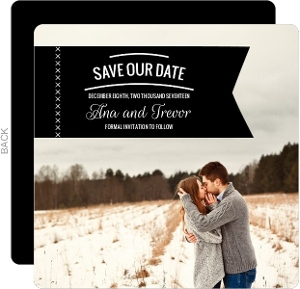 Simple Tag Save The Date Announcement