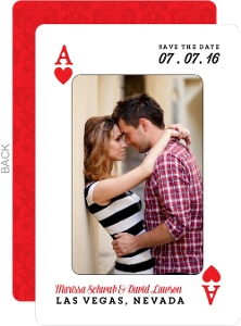 Ace Of Hearts Save The Date Play Card
