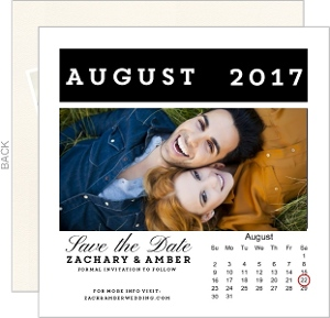 Flip Calendar Save the Date Announcement