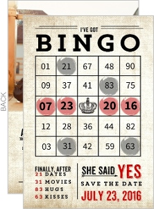 Bingo! Fun Save The Date Card