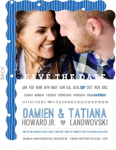 Modern and Unique Horizontal Save The Date Calendar