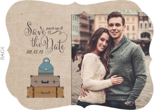 Crafty Luggage Save The Date Photo Card
