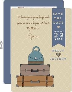 Cute Vintage Destination Save The Date Card