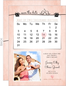 Cute Blush Pink Save The Date Calendar