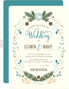 Woodland Rustic Frame Wedding Invitation