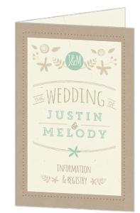 Nature Mint Kratf Wedding Program
