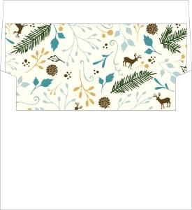 Woodland Rustic Frame Envelope Liner