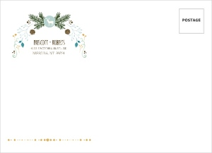 Woodland Rustic Frame Custom Envelope