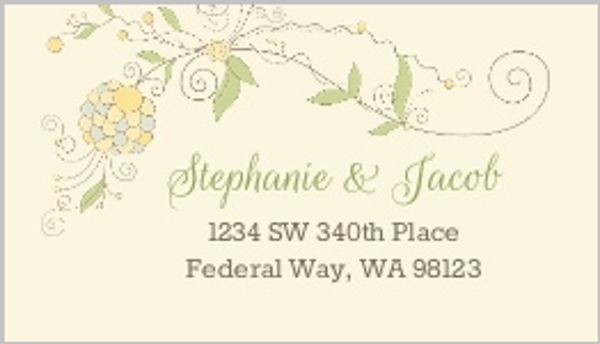 Whimsical Summer Floral Custom Address Label