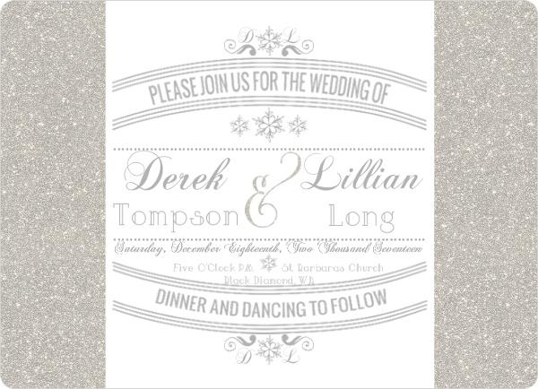 Enchanted Winter Wonderland Wedding Invitation