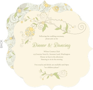 Whimsical Summer Floral Wedding Enclosure Card