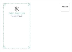 Mint Pastel Nautical Beach Custom Envelope