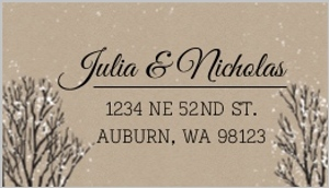 Rustic winter snow custom address label 22895 2183 1 big