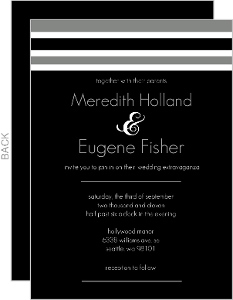 Modern Stripe Wedding Invitation
