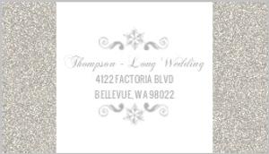 Enchanted Winter Wonderland Address Label