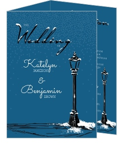 Whimsical Winter Snow Wedding Enclosure Card