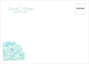 Elegant Watercolor Blooms Custom Envelope