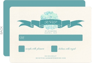 Elegant Watercolor Blooms Wedding Response Card