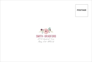 Pink Modern Watercolor Mailing Address Envelope