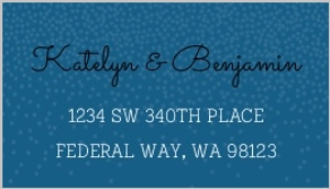 Whimsical Winter Snow Custom Address Label
