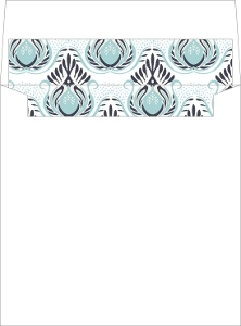 Modern Blue Lotus Flower Envelope Liner