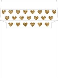Geometric Glitter Heart Envelope Liner