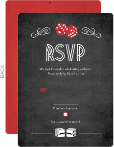 Rustic Dice Las Vegas Wedding Response Card