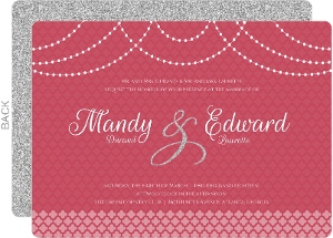 Elegant Royal Pattern Wedding Invitation