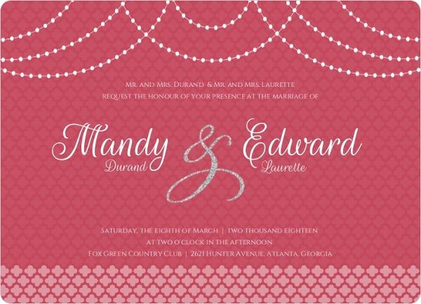 Elegant Royal Pattern Wedding Invitation