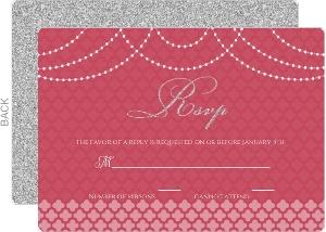 Elegant Royal Pattern Wedding Response Card