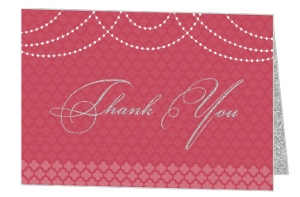 Elegant Royal Pattern Wedding Thank You Card