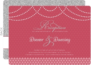 Elegant Royal Pattern Wedding Reception Card