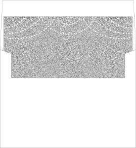 Elegant Royal Glitter Custom Envelope Liner