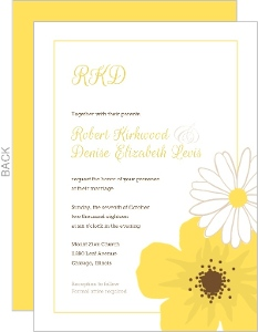Classic Yellow Flower Wedding Invitation