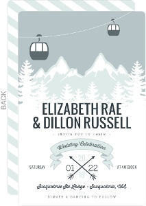 Scenic Winter Mountain Wedding Invitation