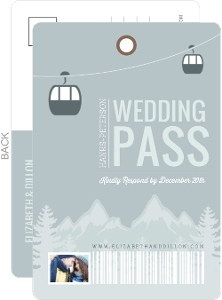 Scenic Winter Mountain Wedding Response Card