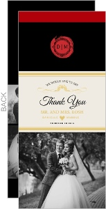 Elegant Wine Bottle Wedding Thank You Card
