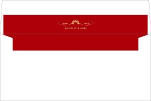Elegant Wine Bottle Envelope Liner