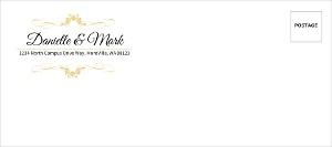 Elegant Wine Bottle Custom Envelope