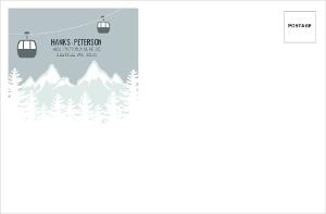 Scenic Winter Mountain Custom Envelope