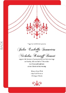 Elegant Chandelier Wedding Invitation