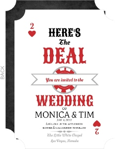 Playing Card Las Vegas Wedding Invitation