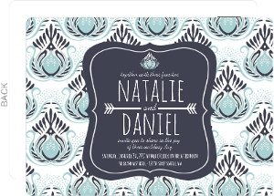 Something Blue Wedding Invitation Postcard