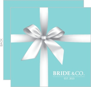 Clean and Elegant Teal Bridal Shower Invitation