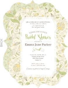 Beautiful Summer Floral Bridal Shower Invitation