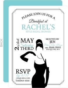 Classic Breakfast At Bridal Shower Invitation