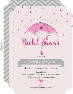 Little Pink Umbrella Bridal Shower Invitation